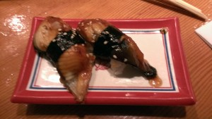 Sweet unagi sushi.