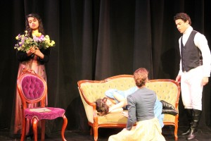"""Carlmont students perform in last year's spring play """"Pride and Prejudice."""""""