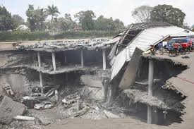 The parking garage of Westgate Mall lays in ruin after the attack source: NY Daily News