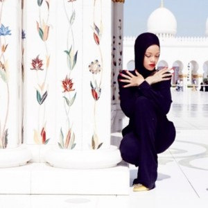 Rihanna at the Grand Mosque