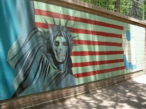 Anti-American Mural in Iran