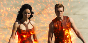 "A scene from ""The Hunger Games: Catching Fire"" trailer."