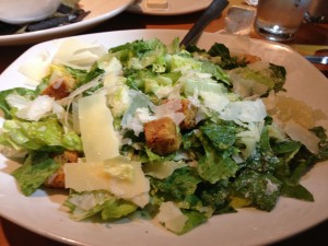 The Classic Caesar salad was crisp and refreshing.
