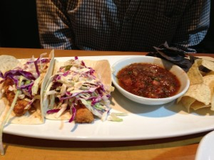 The Fish Tacos were a fun Mexican addition to the meal.