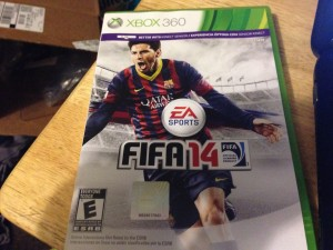 Lionel Messi dons the cover of Fifa 14 making it his second consecutive cover.