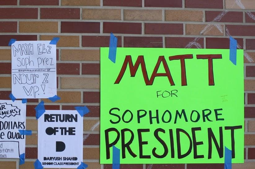 Freshman Matthew Irwin takes a brighter approach towards campaigning.