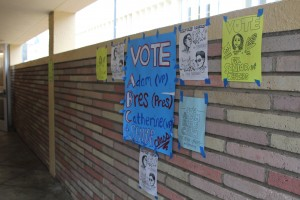Each candidate got creative with their campaign and posted colorful posters and flyers all around school to promote their name before the election.