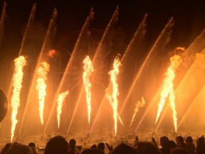 The choirs were able to enjoy the many shows at Disneyland such as World of Color.
