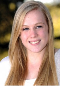 """Abbey Holbrook's headshot from Carlmont's musical, """"Annie Get Your Gun."""" Photo taken by Robyn Peters."""