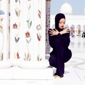 Rihanna at the Grand Mosque
