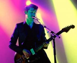 Alex Turner performing Friday night.