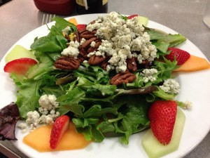 Jeffrey's Signature Salad was filled with fresh fruit and mixed greens.