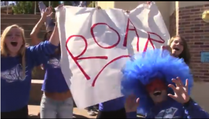 """ASB students created the """"Roar"""" video and dedicated it to the strong victims of bullying."""