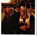Linda Garvey, right, at her high school graduation in Southern California