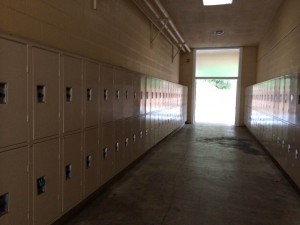 The T-wing lockers are secluded from the rest of the school, making them sometimes inconvenient to use.