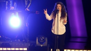 Lorde performing at The Grammy Nominations.