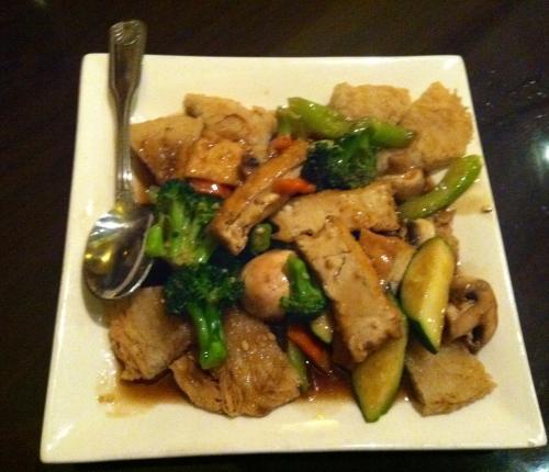 Tofu pan fried rice noodle
