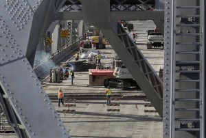 The deconstruction of the Bay Bridge, conducted by Caltrans, has been delayed.
