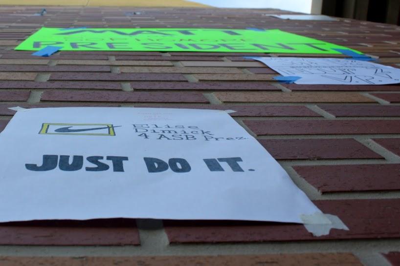 Junior Elise Dimick adopts the popular Nike slogan.