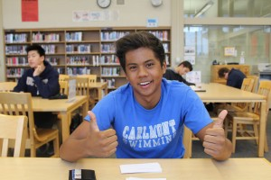 Carlmont Junior and Vice President Candidate Nico Camerino excitedly waits for the results of the election.