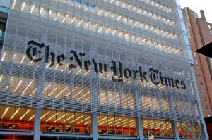 The New York Times headquarters. Under Creative Commons licensing.