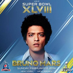 Bruno Mars performed at Superbowl XLVII