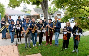 All of Carlmont's instrumental groups were represented at the event. Photo property of the Galisatus family.
