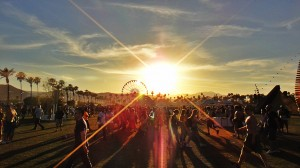 Photo taken by Jen Balisi of a sunset at Coachella music festival 2012