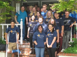 Over 30 students showed up at DaBaldo's home on Sunday.